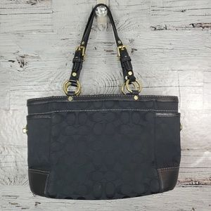Authentic Coach Signature Black Gallery Tote